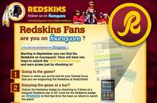 Social Check-In NFL Promos - Washington Redskins Foursquare Campaign Targets Connected Fans