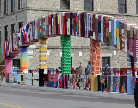 knitted street art