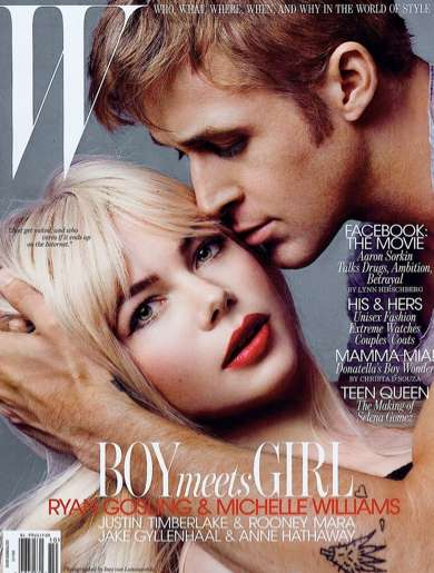ryan gosling and michelle williams w magazine october