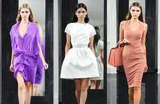 Chic Cocktail Couture - The Victoria Beckham Spring Collection Features a 1960s Flair