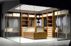 Cubed Closets - The Spazzi Sena Series Closet is a Clothing Showcase