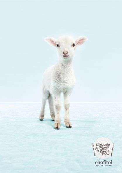 Adorable Animal Advertising - The 'Chofitol' Natural Digestive Ads are Two-Sided