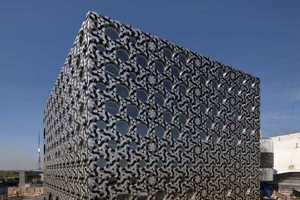 'Foreign Office Architects' Designed Aluminium Tile-Covered Building