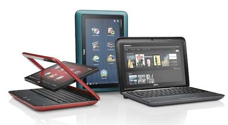 Pivoting Laptop Screens - The Dell Inspiron Duo Tablet Netbook Swivels With Ease