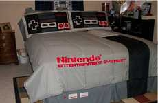 Video Game Duvets - The NES Bedding Set Completes a Gamer's Chambers