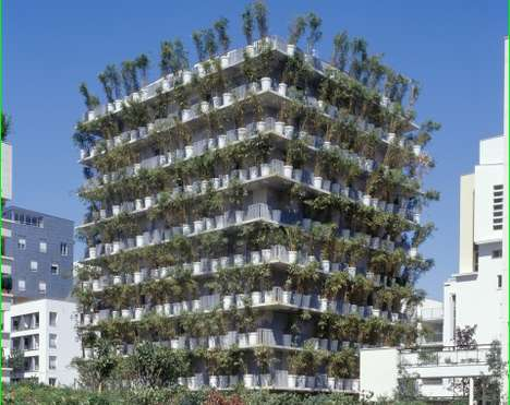 Vertical Condo Gardens - The Tower Flower in Paris Reinvents the Green Wall Concept