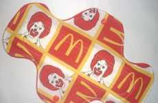 Fast-Food Menstrual Aids - The Ronald McDonald Pad Doesn't Come with a Side of Fries