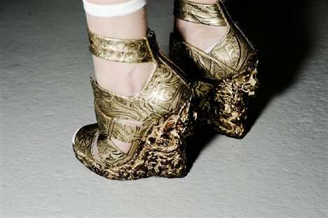 Fancy Baroque Platforms - Nicholas Kirkwood for Rodarte Shoes Mix Old & New