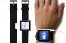 Leather MP3 Watches - The 'iLoveHandles Rock Band' Turns Your Nano into a Rockin' Watch