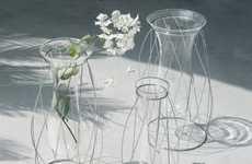 Spiraling Wire Vases
