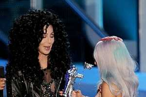 Outrageous as Ever Cher Presented Lady GaGa 2010 MTV Award While Scantily Clad