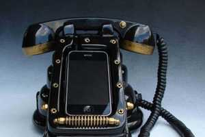 The iRetrofone Steampunk Dock is a Blast from the Past