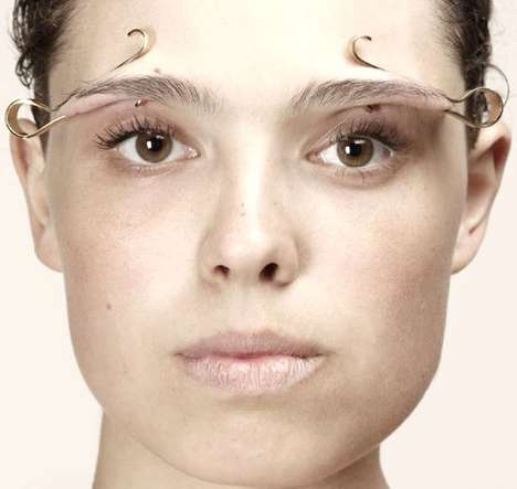 Avant-Garde Facial Accessories - The Interestingly Odd Jewelry Designs of Imme van der Haak