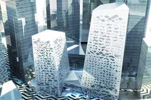 Henning Larsen Creates Saudi Arabia's Crystal Towers