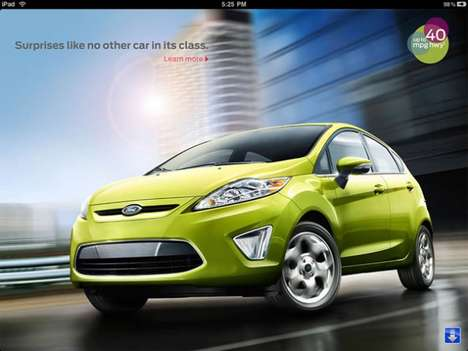 Economy Car Apps - The Ford Fiesta iPad App is a Virtual Salesman