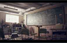 Classroom by Studio Aiko Could be a Film from the Future