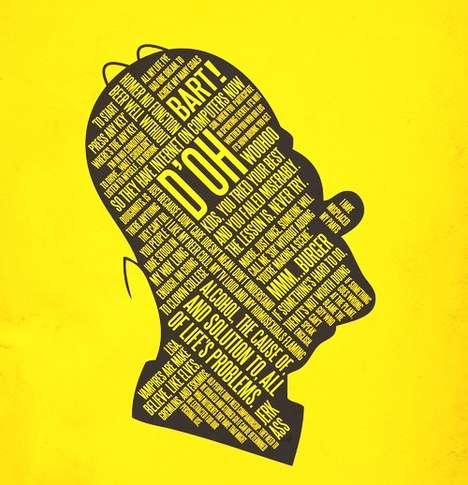 Chatty Film Prints - Typography Meets Movie Trivia in Posters by '37 Posters'