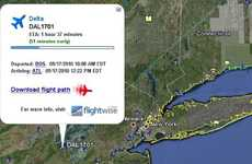 Stalking Airplane Apps - Google & Flightwise.com Provide Near Real-Time Tracking of Airplanes