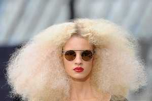 Big Frizzy Hair Seen on the Catwalk of TopShop Unique Spring 2011