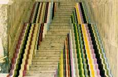 Technicolor Steps - The John Jones Framed Staircase at V&A Lets You Walk on the Rainbow