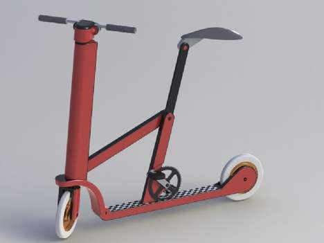 Kick boardable bike