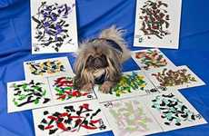 Abstract Puppy Painters - Ziggy the Painting Pekingese Creates One-of-a-Kind Work
