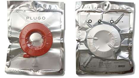 Condom-Like Cords - The Plugo Circular Extension Cord Features a Convenient Redesign