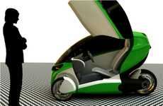 Lambo-Door EVs - The E-True 3W from Ricardo Fedrizzi is a Stylish Eco-Trike