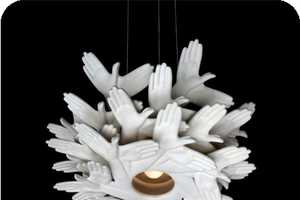 The Inventive J.P. Meulendijks 'Bird in Hand' Pendant Light