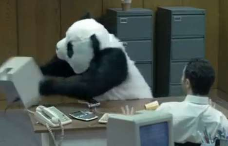 "Abrupt Bear Outbursts - The ""Never Say No to Panda"" Campaign is Uproariously Funny"