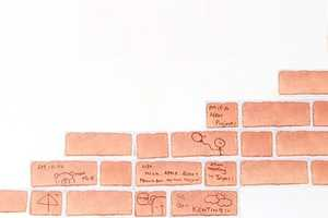 Brick Sticky Notes by 25togo Help Build Your Thoughts