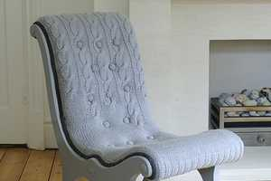 The Hand-Knit Sweater Chair by Melanie Porter is Comfy and Soft