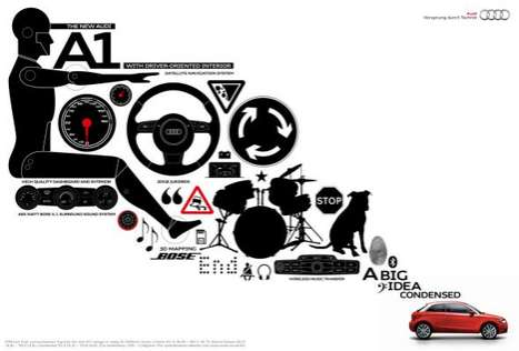 Audi exploded view ads