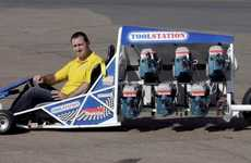 Saw-Powered Dragsters