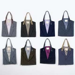 Business Casual Accessories - Recycled Suit Tote Bags are Professionally Fashionable