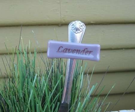 Glass Garden Signs