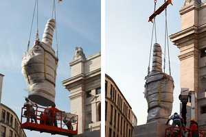 Maurizio Cattelan Makes Take a Jab at the Milan Stock Exchange