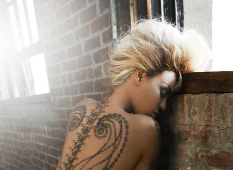 Celeb Temporary Ink - Rock Out Like a Biker With Beyonce for Dereon Tattoos
