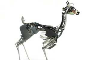 Mechanically-Designed Jeremy Mayer Deer Typewriter Sculptures