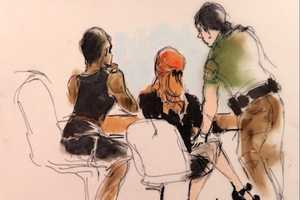 Lindsay Lohan Fashion Courtroom Sketches by Mona Shafer Edwards