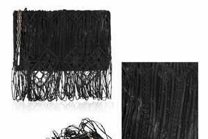 Jimmy Choo Lareina Black Nappa-Leather Clutch is Lovely Luxury
