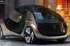 Apple-Inspired Hybrids - The Electric iMove Concept Car for 2020 is Wickedly Sleek