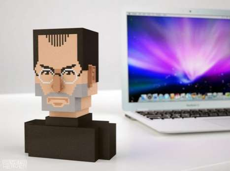Pixelated Techie Portraits - The Steve Jobs Bust is Depicted in a 3D Digital Sculptural Style
