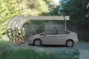 The Car Arc Solar Shelter Harnesses Solar Energy for e-Technologies