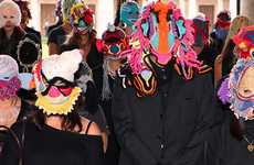 Crazy Crocheted Masks