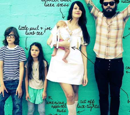 Hipster Family Style - The Bleubird Family is Fashion Forward and Cool