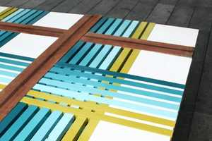 This Colorful Raw Edges Bench Boasts a Pretty Pattern for Bench 10