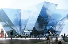 Gleaming Gemstone Structures - The REX 'V & A at Dundee' Competition Entry Dazzles