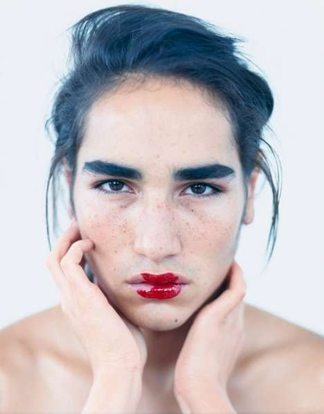 Lipstick-Wearing Males - French WAD Magazine Promotes Men in Makeup
