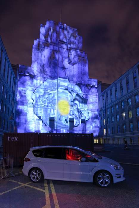 Interactive Ice Projections - S-MAX Gets Launched with Live Actors and Laser Cannons